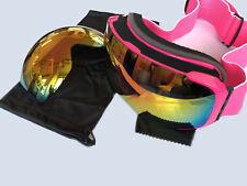 Ski Goggles Professional Snowboard Snowmobile Over Glasses Anti Fog UV