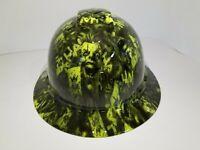 FULL BRIM Hard Hat custom hydro dipped , NEW  LIME COLOR JOKER JOKERS WILD NEW