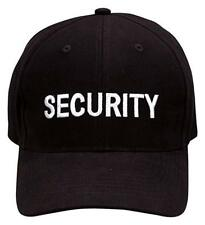Security guard officer cap hat embroidered black