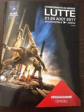 Programme Officiel Championnats Du Monde De Lutte 2017 Paris