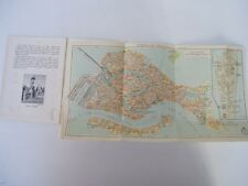 VENISE - French language guide to Venice - 1933 - fold out map - RARE
