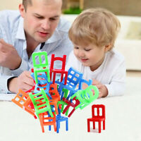 18x Fun Chair Stack Game Educational Toy Stacking Chair Balance Puzzle Xmas Gift