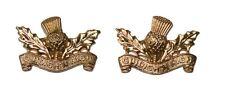 Royal Regiment of Scotland Highlanders Collar Dogs/Badges - Uniform - Pair - NEW