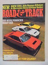 Road & Track Magazine September 1975 BMW 320i Mercedes 200 MPH Porsche