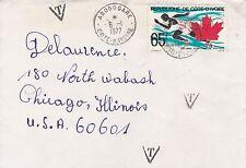 BD823) Ivory Coast 1977 nice cover to USA