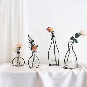 Flower Plant Stands Iron Wire Vase Black Metal Pot Stand Holder Home Decor L63