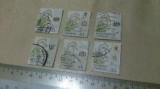 6 Malaysia 30 cent / 30 sen Stamp Oryza Sativa Art