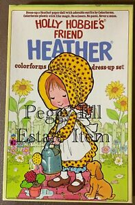 """HOLLY HOBBIE'S FRIEND """"HEATHER COLORFORMS DRESS-UP SET"""" #604 NOT A REPRODUCTION"""