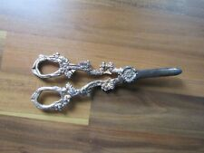 More details for vintage pair of silver plated grape scissors - antique grape and vine