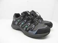 Salomon Women's XA Comp 7 WP Trail Hiking Shoe Grey Denim/Stone Blue/Lucite 7M
