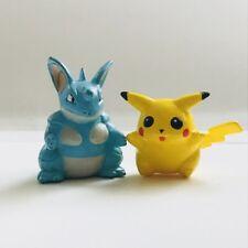 Nidoqueen & Pikachu Original CGTSJ Nintendo Pokemon Mini Figures Toy vtg Bandai