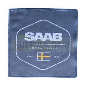 SAAB GENUINE MERCHANDISE MICROFIBRE MICROFIBER CLOTH BLUE SWEDISH FLAG DESIGN