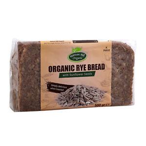 Organic Rye Sunflower Seeds Bread 500g (Pack of 12)