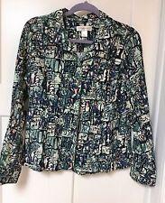 Women's CHRISTOPHER & BANKS Jacket Multi-Greens & Teals, etc Size L   002