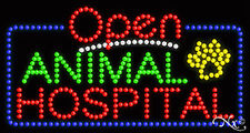 "New ""Open Animal Hospital"" 32x17 Solid/Animated Led Sign W/Custom Options 25445"