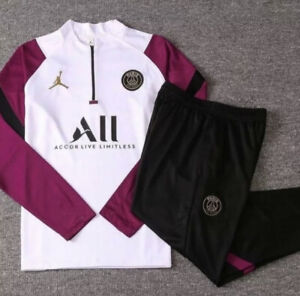 Brand New Jordan x PSG Training Tracksuit With Tags Purple White Size S/M