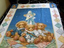 Baby Nursery Bedding Blanket Daisey Kingdom Print Mother Goose Bears Burp Cloths