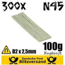 300x Neodym Magnet Zylinder D2x2,5 N45 - Whiteboard Magnete Bastelmagnet stark