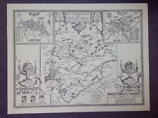 Map of RUTLAND 1610 by John Speed  - Uncoloured