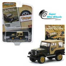 Greenlight 1:64 Vintage Ad Cars Series 2 - 1977 Jeep CJ-5 Golden Eagle - 39030-E