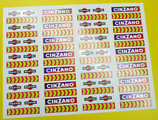 Ranura de coche Scalextric 1/32nd barrera Stickers Calcomanías Martini cheurones X56!