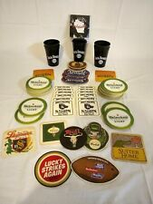 5 Jack Daniels Black Plastic Cups and lot of pre-owned Drink/Saloon Coasters