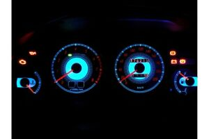 Toyota Corolla E10 design 2 glow gauge plasma dials tachoscheibe glow shift indi