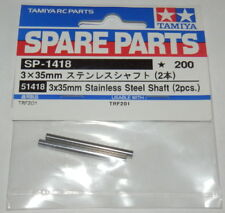 Tamiya TRF201 3x35mm Stainless Steel Shafts (2pcs) NEW 51418 58477