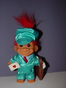 """Troll Doll 4 1/2"""" Russ Valentine's Day Messenger of Love Red Hair Ultra Rare"""