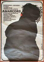 Plakat Polnische Amarcord Magali Noel Federico Fellini Bruno Zanin