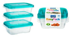 6pc 270ml Food Storage Container Box with Lids Tupperware Plastic Strong Handy