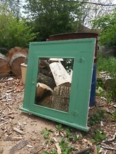 100+ year old Vintage Detroit Wood Medicine Cabinet Insert w/ Beveled Mirror