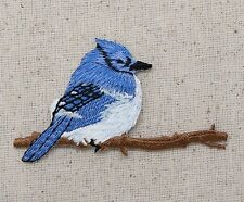 Bluejay - Tree Branch - Blue Jay Bird - Iron on Applique/Embroidered Patch
