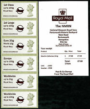 ROYAL NAVY MUSEUM LOGO NMRN MA13 MACHIN COLL SET/6 MACHINS POST & GO