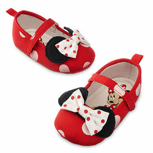 Disney Store Minnie Mouse Costume Crib Shoes - Red