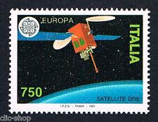 ITALIA 1 FRANCOBOLLO EUROPA CEPT SATELLITE DRS 1991 nuovo**