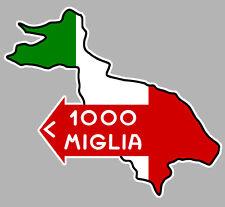 1000 MILLE MIGLIA MILLES RACING TRACK AUTOCOLLANT STICKER 10cmx9cm (MA180)