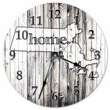 "MICHIGAN RUSTIC HOME STATE CLOCK - Large 10.5"" Wall Clock - 2231"