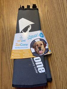 "New ZenPet ZenCone Soft Recovery Collar Grey Size XL Neck 18-23"""