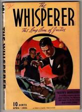 """The Whisperer Apr 1941 """"Death's Doublecross"""" - High Grade"""