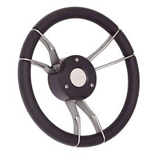 New OEM Gussi Boat Steering Wheel M931 Gray Spokes & Self Leveling Center