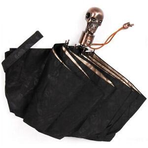 McQueen Skull Kito Automatic Open/Close Umbrella MCQ Three Folding Rain Umbrella