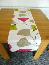 """NEW Table Cloth Runner Mat  48"""" 4ft 14"""" Wide Lime Green Cerise Mocha Ivory 1a"""