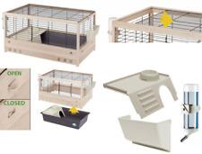 Ferplast Arena 100 Rabbit Wooden Cage, 100 x 62.5 x 51 cm, Black