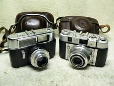 2 Vintage German 35mm Film Cameras-VOIGTLANDER Vito Auto & REGULA King Cita III