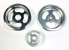 OBX Overdrive Pulley Kit  Fit For 03-07 HONDA ACCORD 2.4L 4CYL Silver
