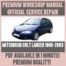 WORKSHOP MANUAL SERVICE & REPAIR GUIDE for MITSUBISHI COLT LANCER 1995-2003