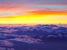 ART PRINT POSTER PHOTO CLOUDSCAPE SUNSET MOUNTAIN PEAKS COOL LFMP1165