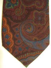 NEW $250 Ralph Lauren Purple Label Soft Purple, Brown Big Paisley Silk Tie