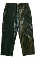 NEW, RODEBJER COATED DARK GREEN CROPPED PANTS, L, $695